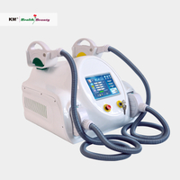 Promotion price two handles super cooling portable ipl shr
